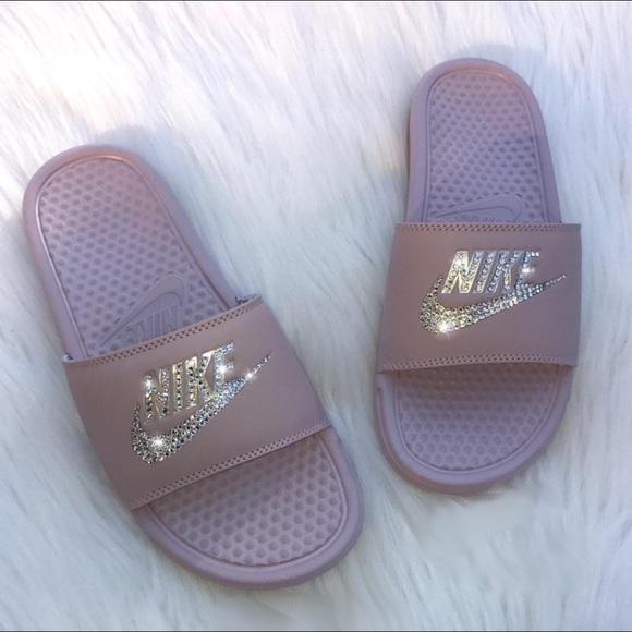 9222db2f8c175 ✨NEW Swarovski Crystal Nike Slides✨ NWT